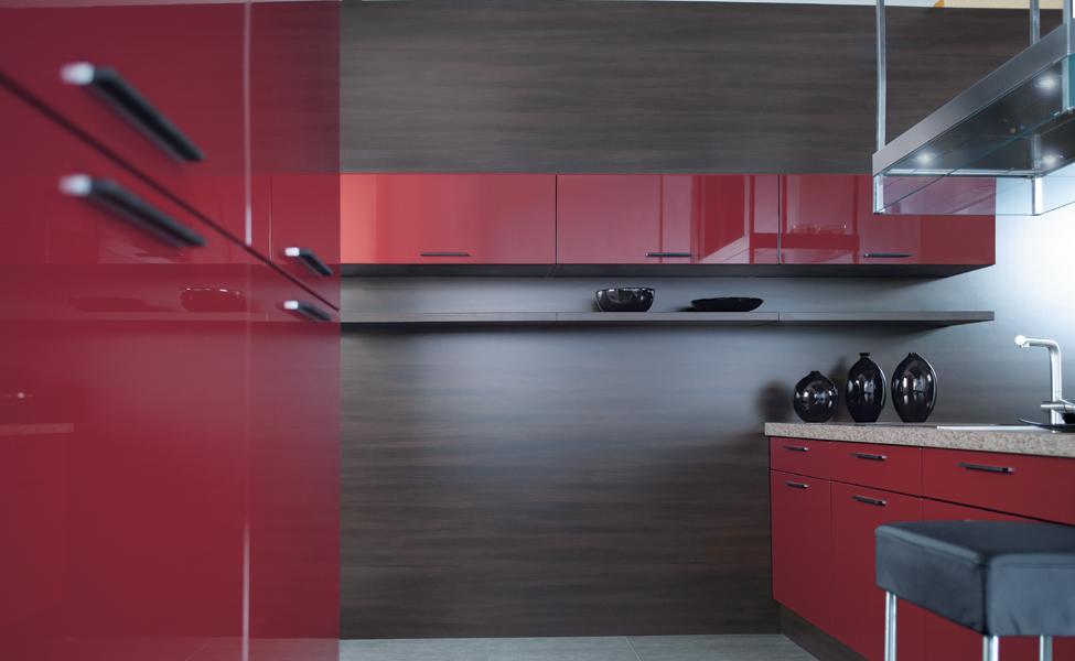 ... Weinrot : Details zu Küchenzeilen, Einbauküche erweiterbar ! Weinrot